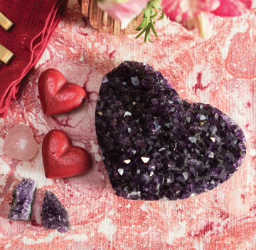 Valentines Day amethyst quartz